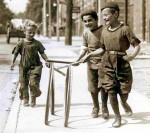 Victorian Toys and Games - Hoop and stick